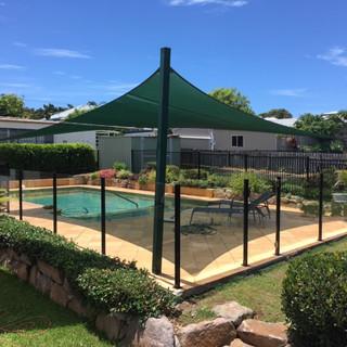 Semi Frameless Glass Pool Fence Black