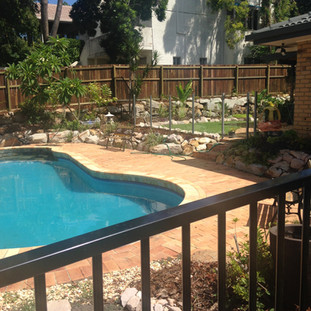 Timber & Aluminium Pool Fence Combo