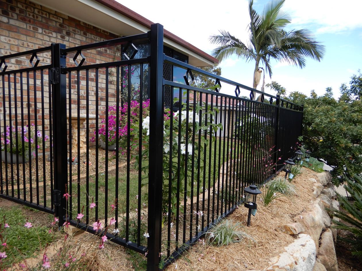 Custom Black Aluminium Garden Fence