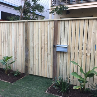 Capped Timber Fence with Gate