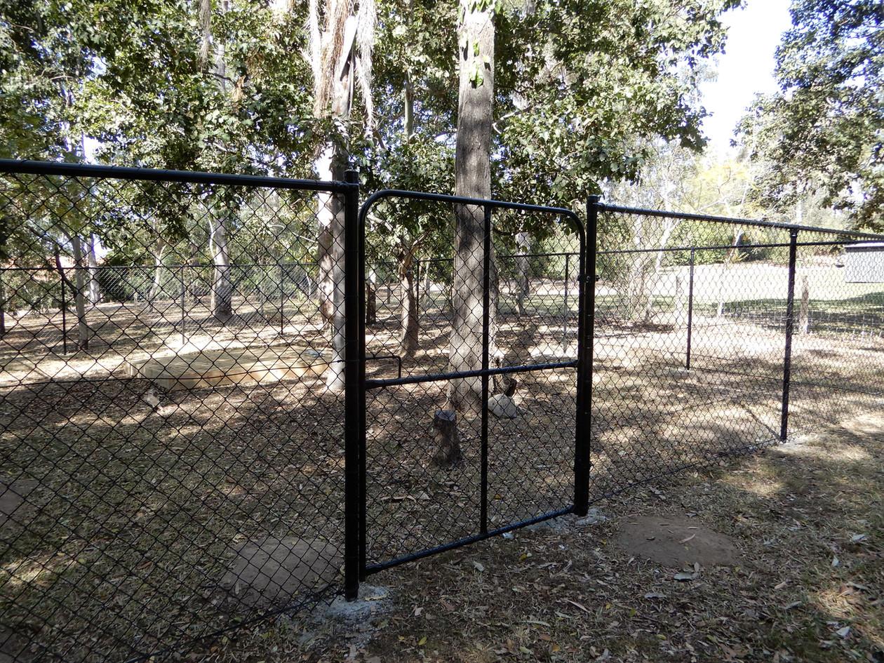 Black Chainwire Gate