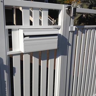 Gloss White Slat Fence