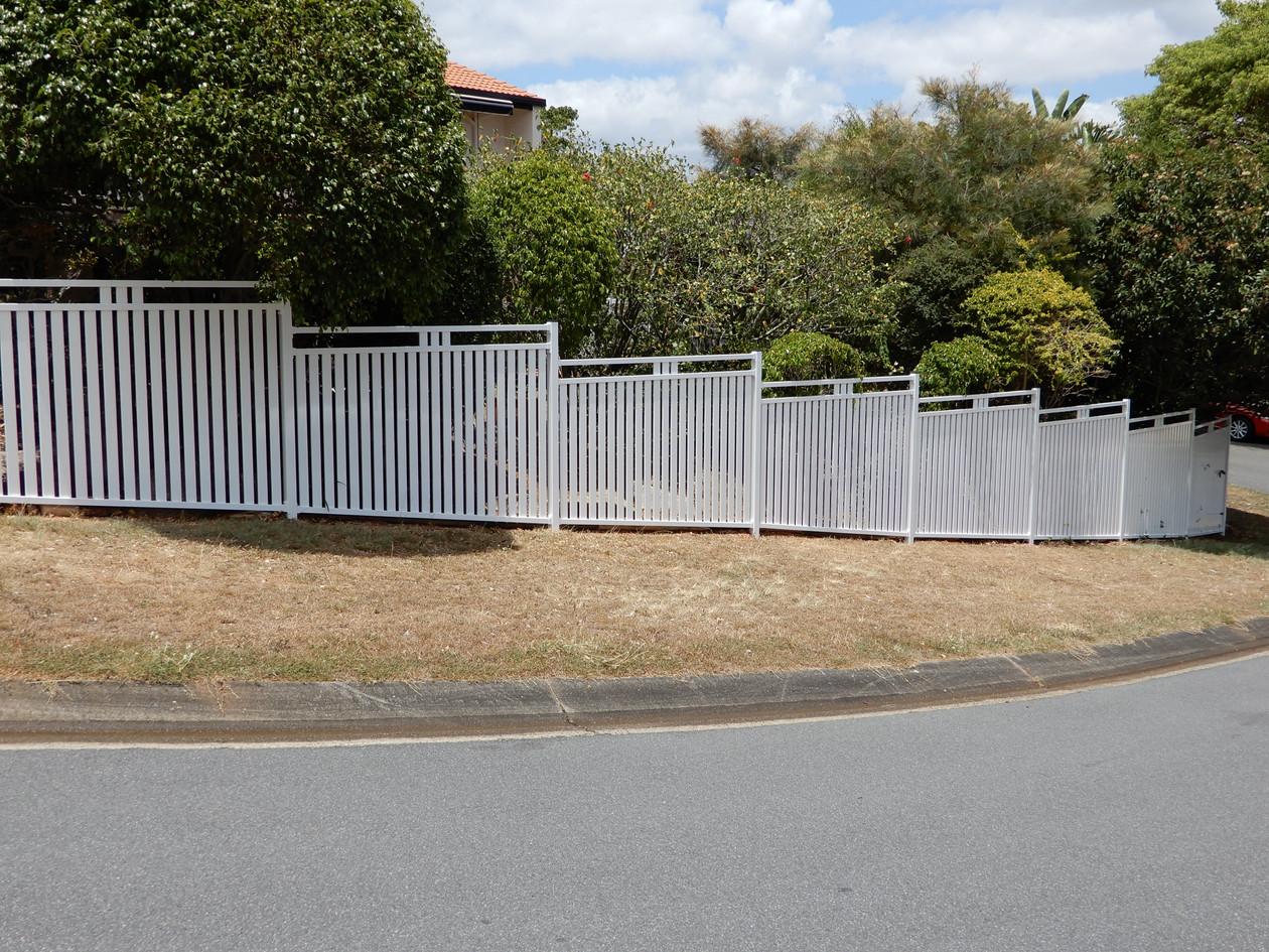Slat Garden Fence