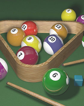 Triangle Rack with Balls