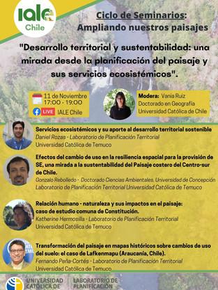 """Primer webinar IALE-Chile """"Ampliando nuestros paisajes"""""""