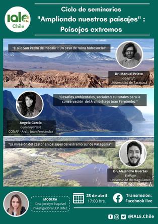 """Tercer Webinar de la serie """"Ampliando nuestros paisajes"""" Viernes 23 de abril 17.00 horas facebook"""