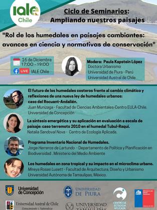"""Segundo Webinar """"Ampliando nuestros paisajes"""", 16 de diciembre 2020"""