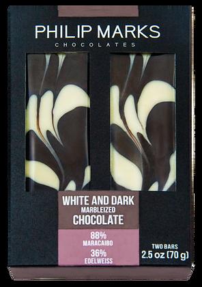 Dark & White Chocolate Marble Bar