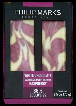 White Chocolate Raspberry Marble Bar