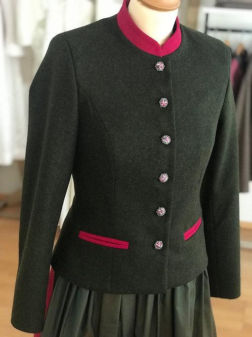 Lodenjanker Irma Grün/Pink