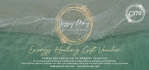 Energy Healing Gift Voucher - 3 Sessions