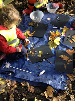 Taking part in natural art activities