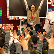 Clare Luther visiting Rokeby School