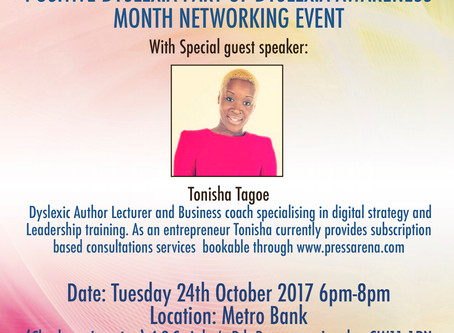 Metro Bank Clapham Junction  Dyslexia Awareness and Networking 6pm-8pm