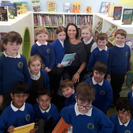 Clare Luther visiting Oaklands Primary School
