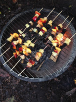 Healthy snacks on the fire