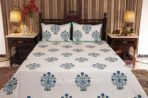Bluebells Jacquard Bed Cover