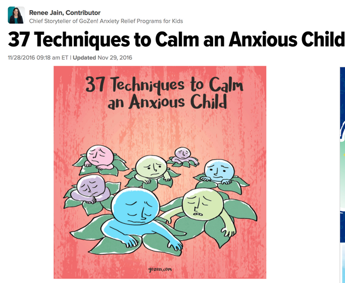 Calm an anxious child