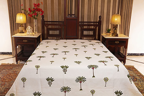 Wodyetia Palm Jacquard Bed Cover
