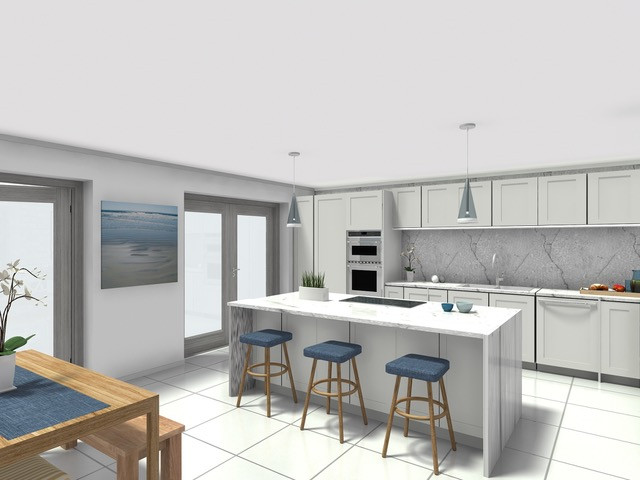 Mr and Mrs Colam - kitchen elevation.jpe