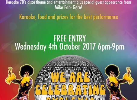 Bunga Bunga Karaoke Wednesday 4th Oct 2017 6pm-9pm