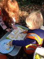 Preparing snacks for the group and using tools safely