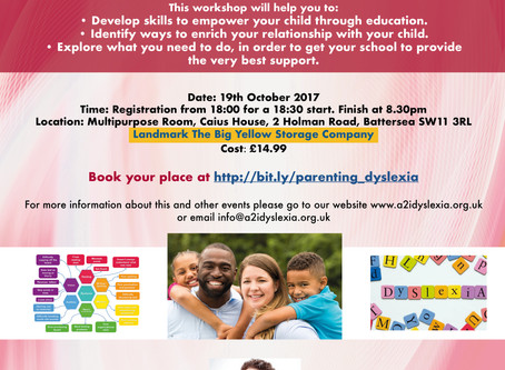 Introduction to Successfully Parenting Dyslexic Children 19th Oct