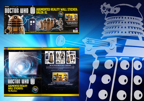 DR Who wall decals/stickers and packaging design