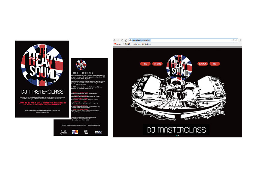 Heavy Sound leaflet and website