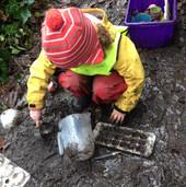 Getting wonderfully dirty exploring mud