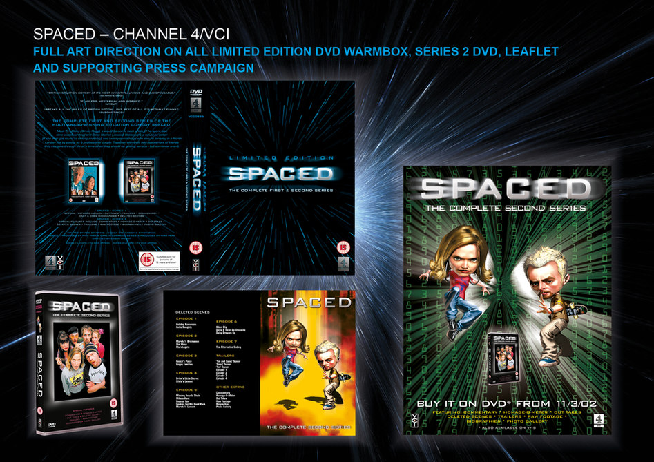 Spaced DVD and poster for Channel 4