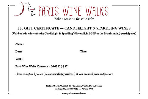 55€ Gift Certificate - Candlelight & Sparkling Wine