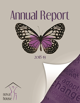 Nova House Annual Report Cover 2018-2019