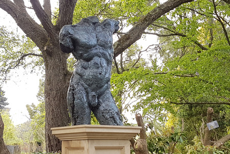 Achilles, bronze on Bathstone plinth 1.9m