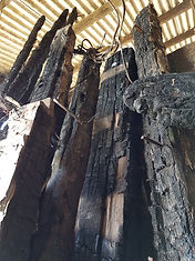Burnt timber from Royal Clarence Hotel 5