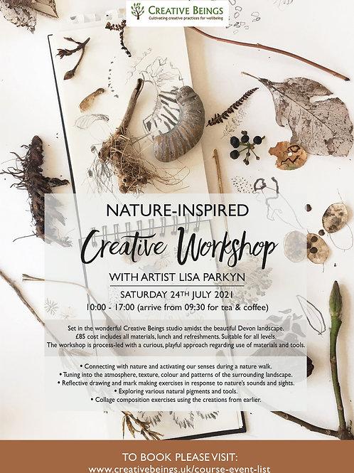 Nature-inspired mark-making workshop - Sat 24th July