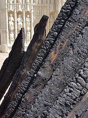Burnt timber from Royal Clarence Hotel 4