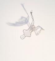 figurative falling wire mesh maquette