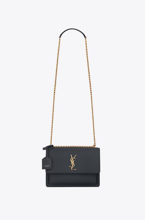 YSL purse; dark coal