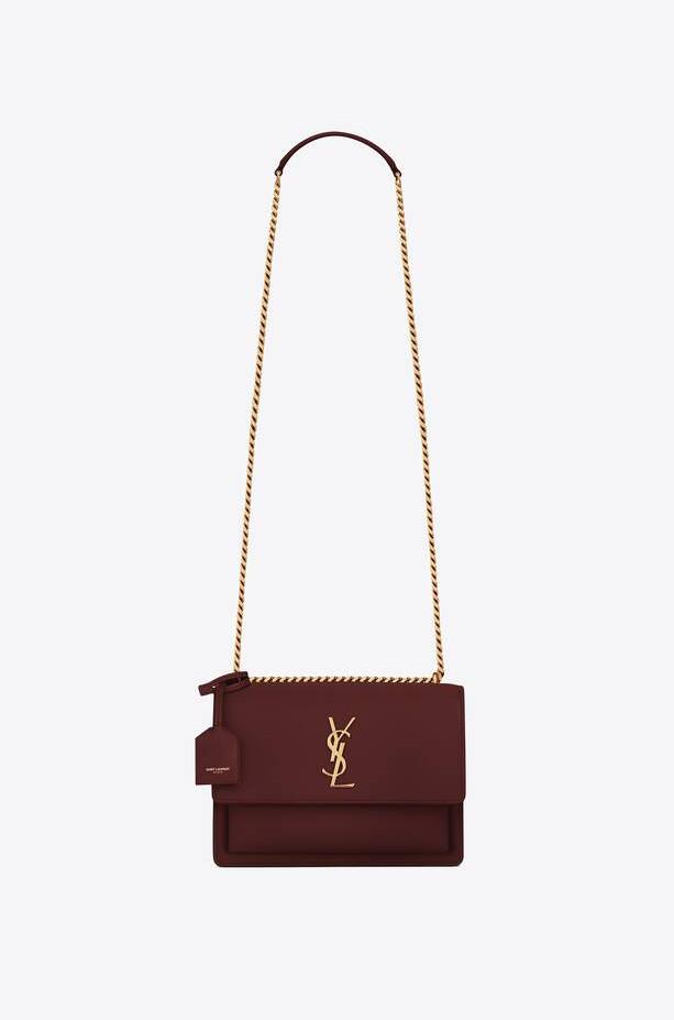 YSL purse; rouge legion