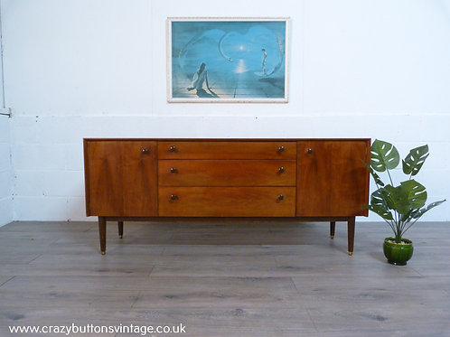 G Plan E Gomme teak and walnut sideboard