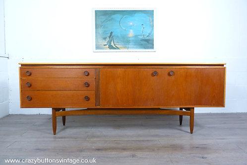 Danish teak 7ft sideboard mid century