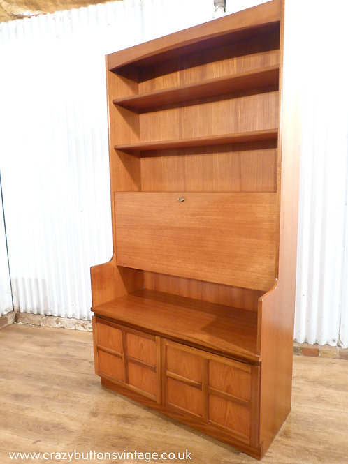 Nathan teak wall unit desk bureau