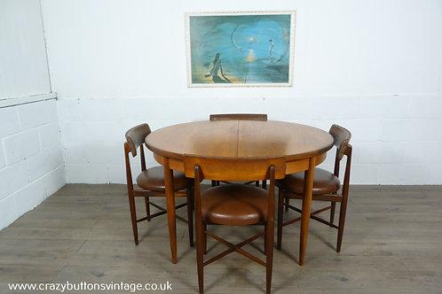 G Plan table kofod larsen chairs round circle