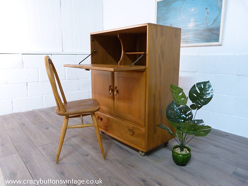 Ercol windsor elm bureau desk drinks cocktail