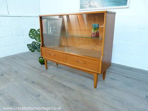 Jentique teak and glazed bookcase