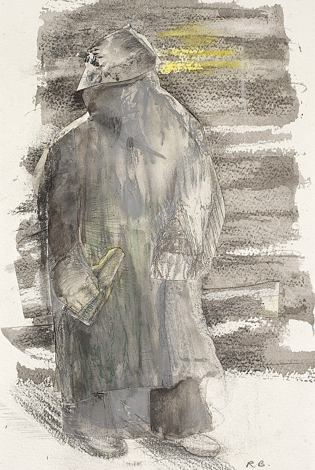 Homeless. 1998. Monoprint collage mixed