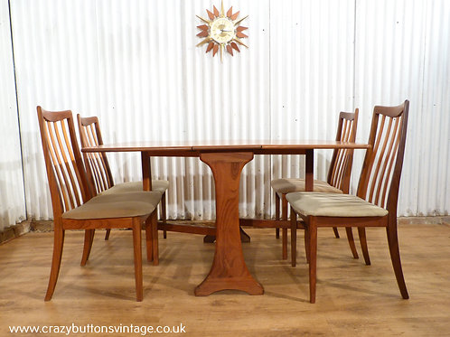 G Plan teak table and chairs