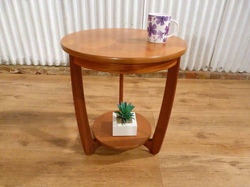 Nathan shades sunburst teak coffee lamp table