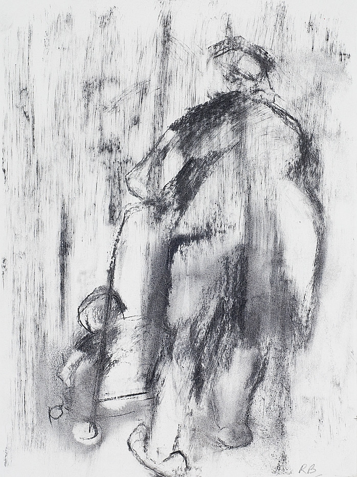 30. Mother and Child. (Back view). Charc